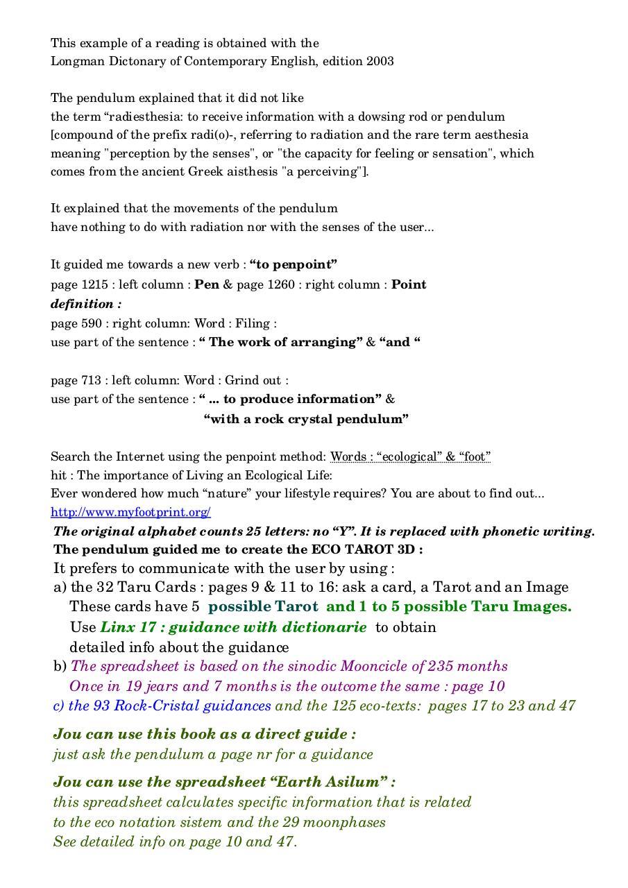 Pendulum Divination EBook - PDF Archive