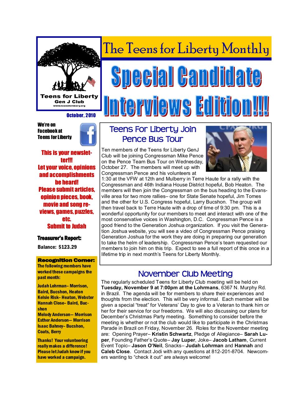 Teens for Liberty Newsletter Oct2010.pdf - page 1/21
