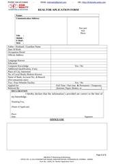 realtor application form