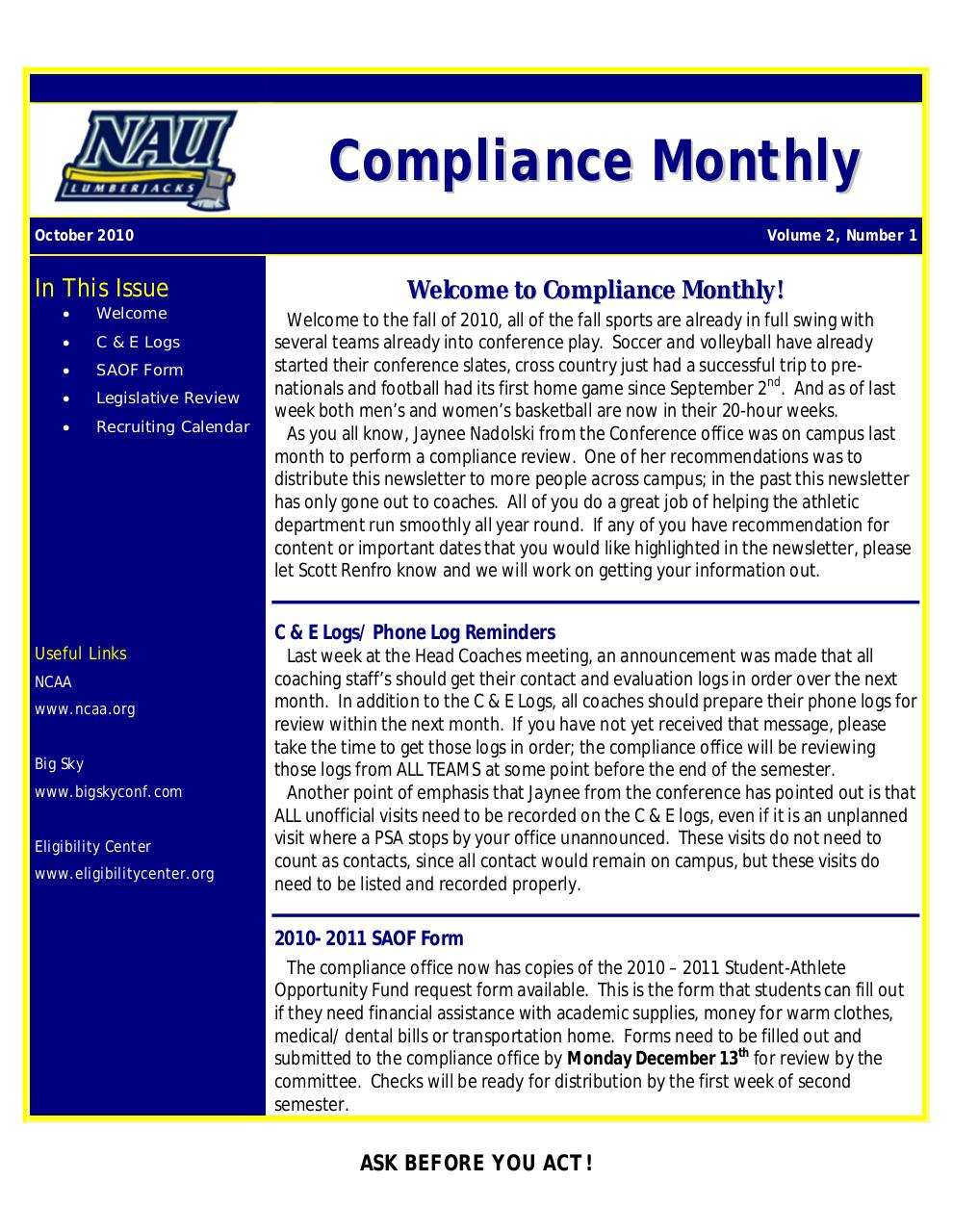 Compliance Monthly_October2010.pdf - page 1/2