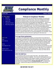 compliance monthly october2010