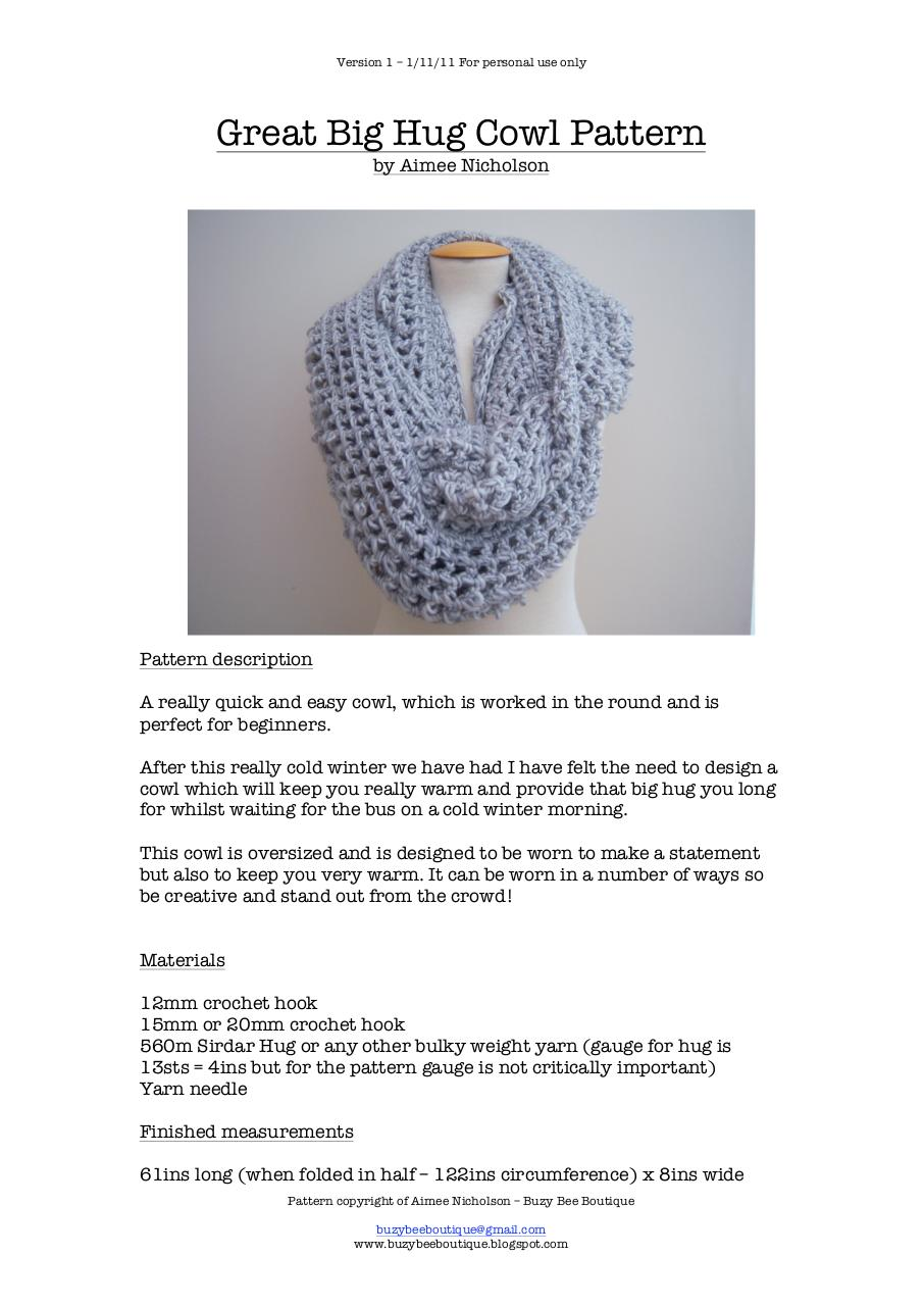 Preview of PDF document great-big-hug-cowl-pattern-version-1.pdf - Page 1/2