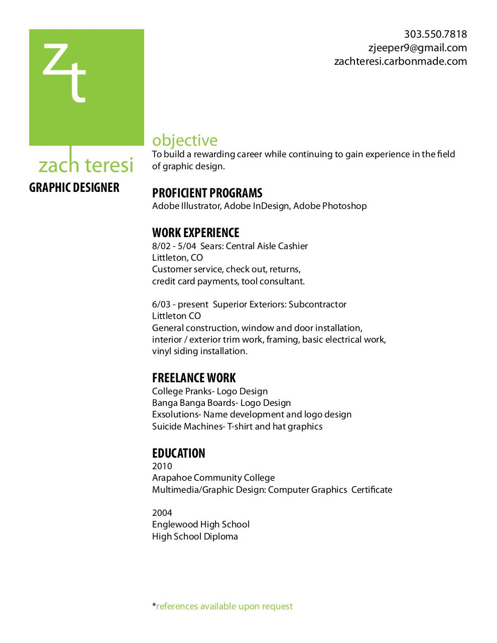 Zach T Resume Pdf Archive