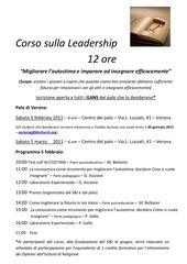 corso sulla leadership 2010 2011 vr