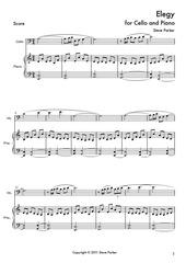 elegy for cello and piano