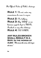 the official rules of pablo