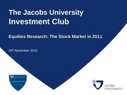 equityes research the stock market in 2011