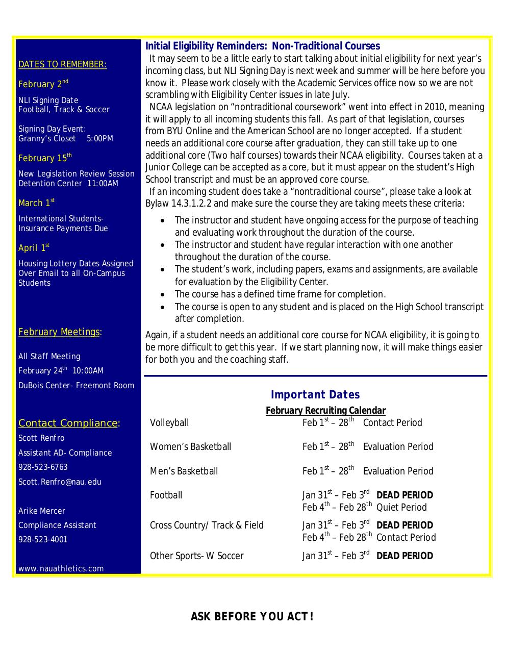 Document preview Compliance Monthly_February2011.pdf - page 2/2
