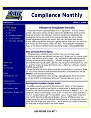 compliance monthly february2011