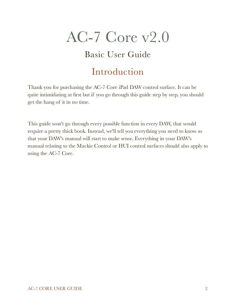 AC 7 Core User Guide - PDF Archive