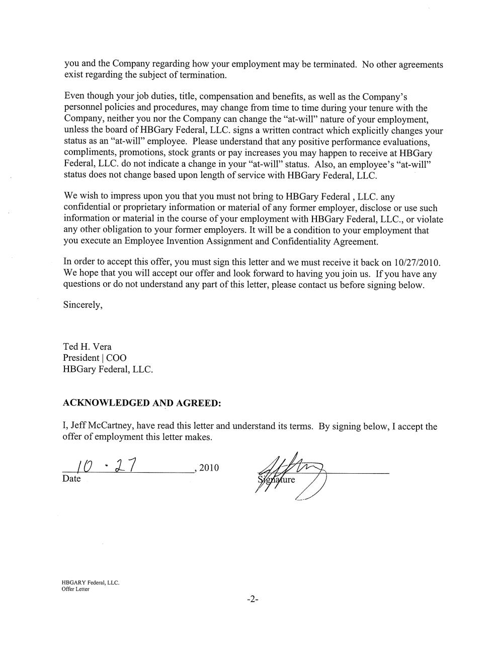 Contingent Offer of Employment Jeff McCartney jeffcontractpdf