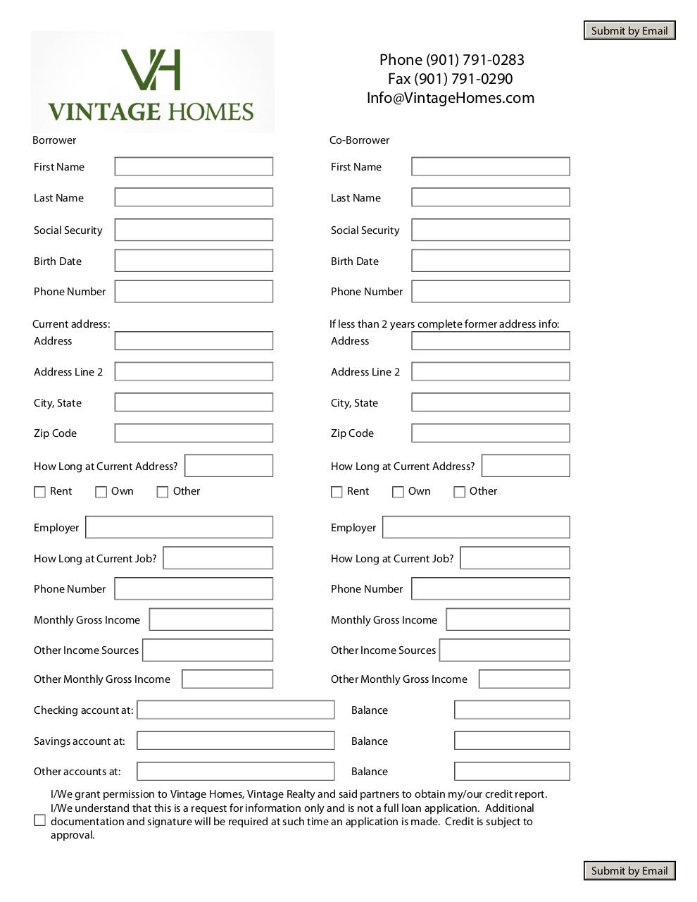 Document preview Vintage Homes Pre-Qualification2.4.pdf - page 1/1