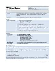 william baker welding resume