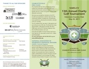charity golf brochure
