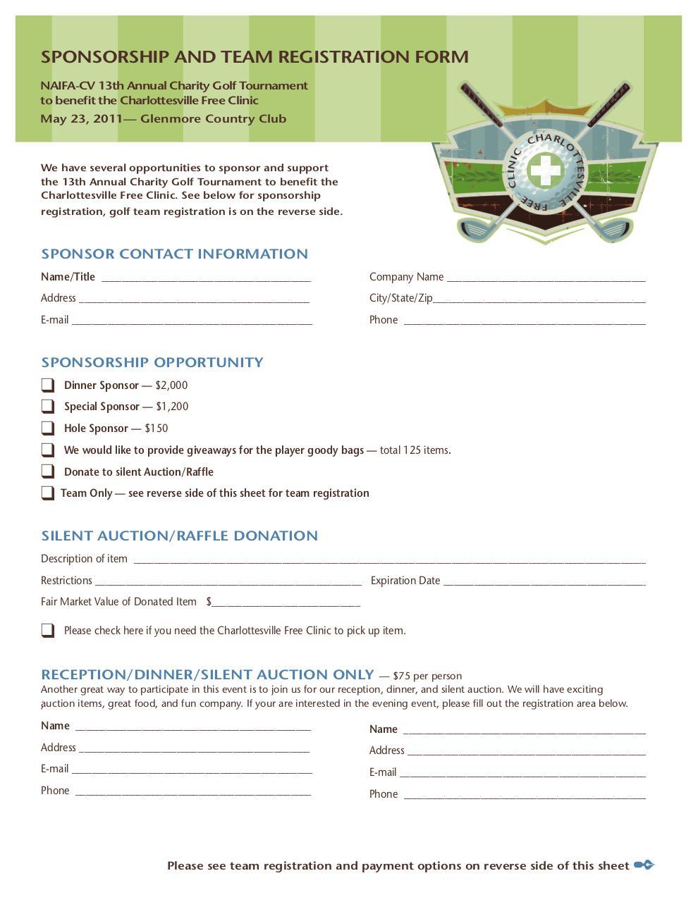 Fillable Golf Registration Form Template Fill Online