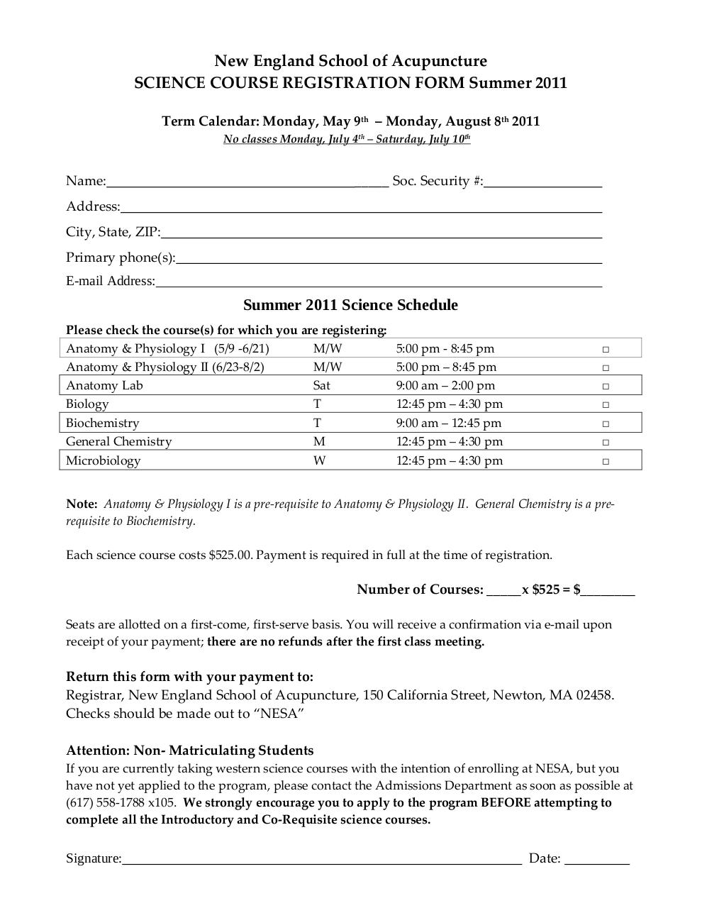 Document preview Science Registration Form SU11.pdf - page 1/1