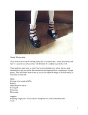 60cm doll socks