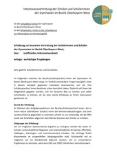 evaluation direktorenbrief