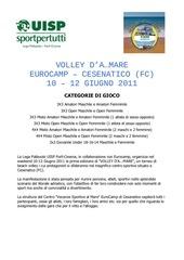 volley d a mare cesenatico giugno 2011 presentazione