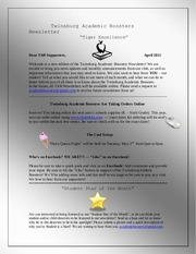 twinsburg academic boosters newsletter