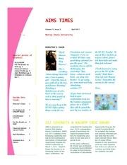 april 2011 newsletter 1