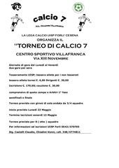villafranca torneo c7 con modulo iscrizione