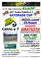 2011 ii trofeo gatorade cup locandina
