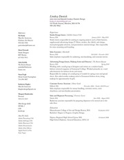 daniels resume 2011