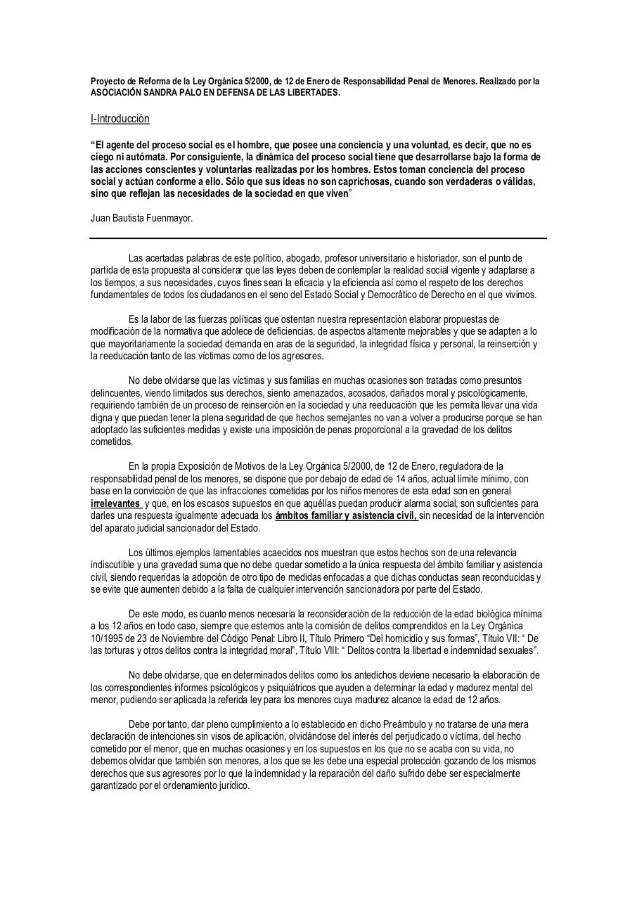Document preview Proyecto de Reforma de la Ley Orgánica 5.pdf - page 1/3