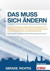 wahlprogramm cdu berlin 2011