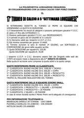 torneo c 5 longiano locandina e modulo iscrizione