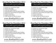 ron paul 2012 handout