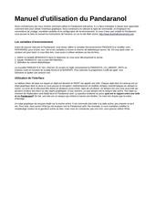 PDF Document guide utilisateur pandaranol