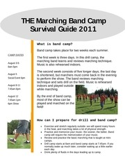 band camp survival guide 2011