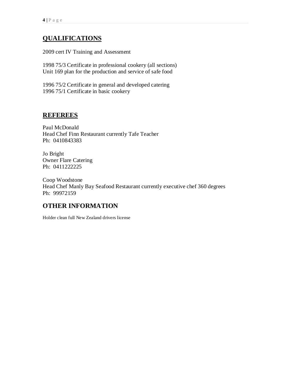 Document preview Warren resume 1.pdf - page 4/4
