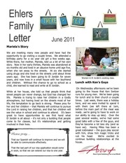 ehlers family letter june 2011