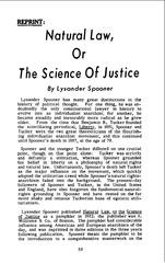 lysander spooner science of justice