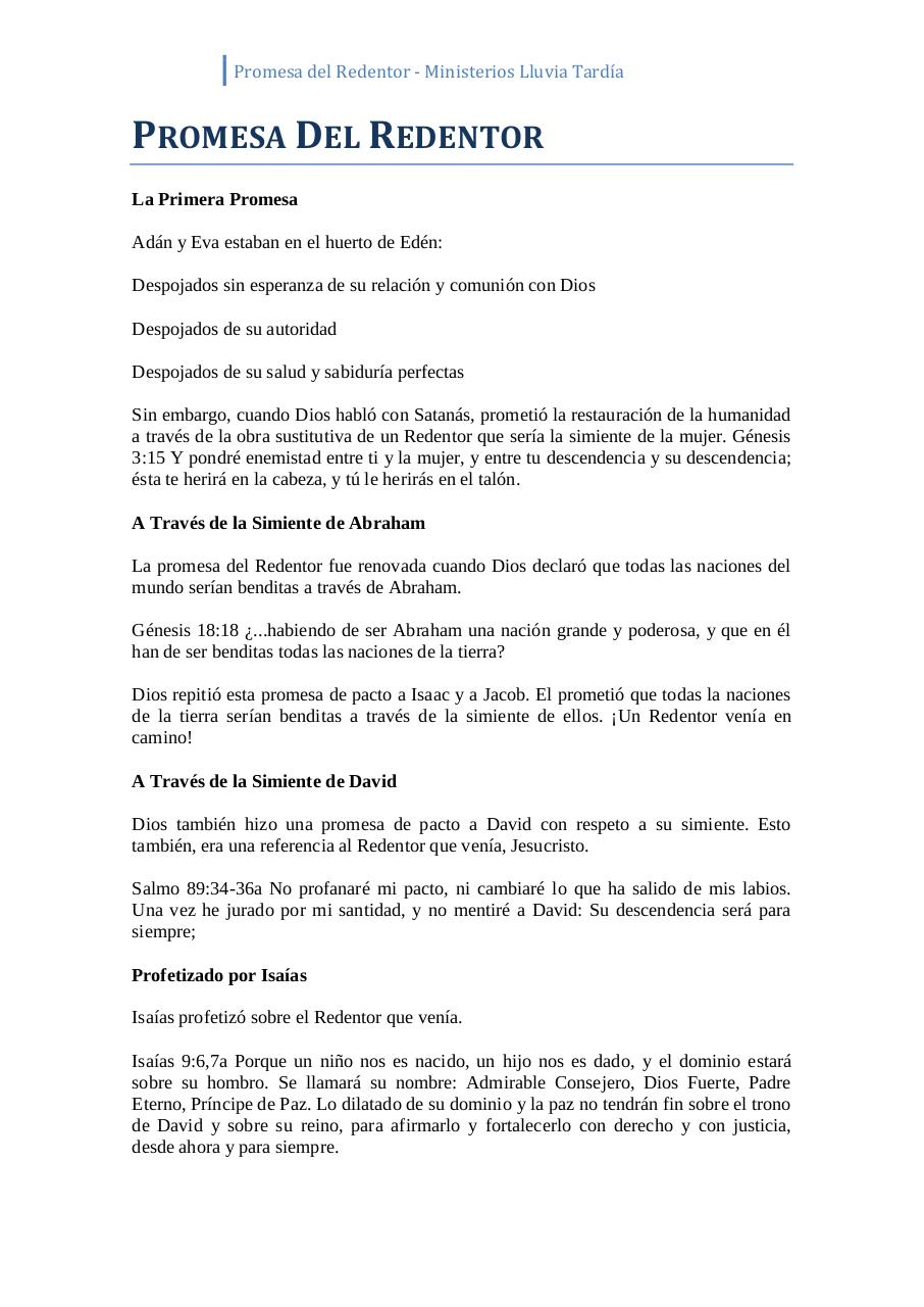 Document preview Promesa Del Redentor.pdf - page 1/2