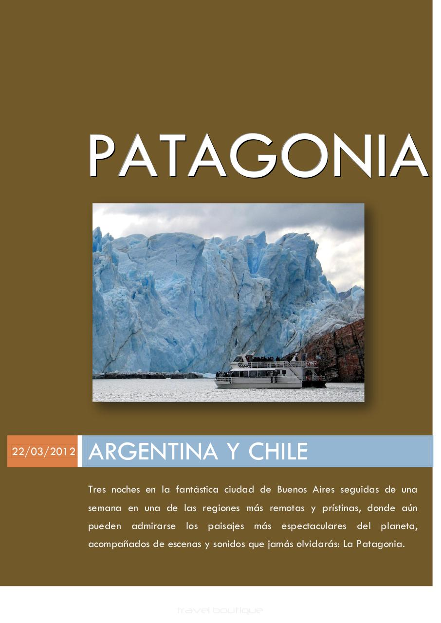 FOLLETO TRAVELBOUTIQUE PATAGONIA ARGENTINA CHILE.pdf - page 1/6
