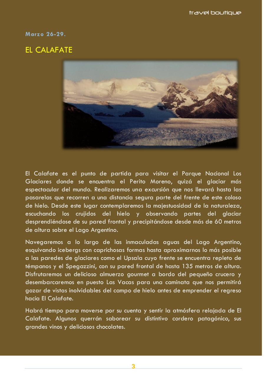 FOLLETO TRAVELBOUTIQUE PATAGONIA ARGENTINA CHILE.pdf - page 3/6