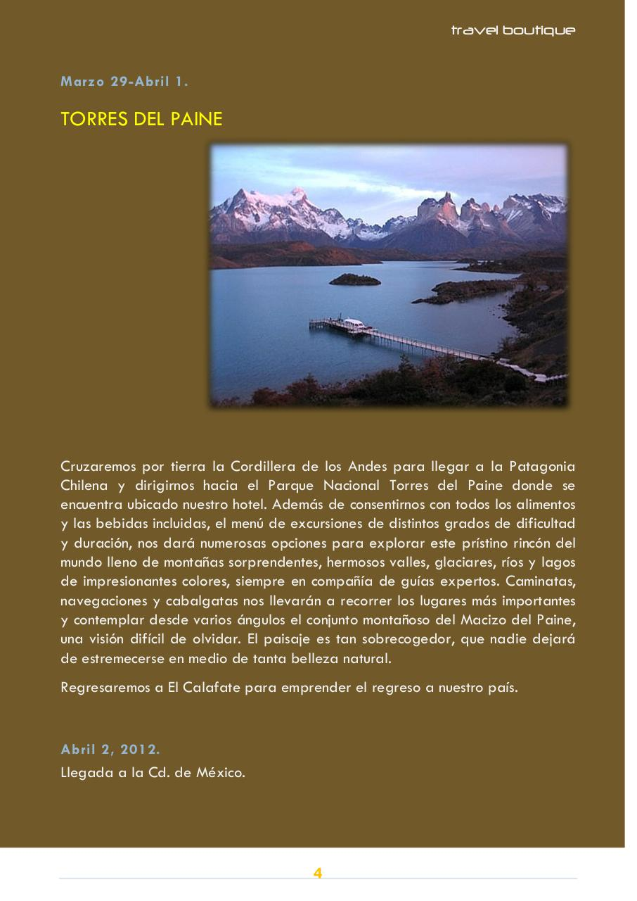FOLLETO TRAVELBOUTIQUE PATAGONIA ARGENTINA CHILE.pdf - page 4/6