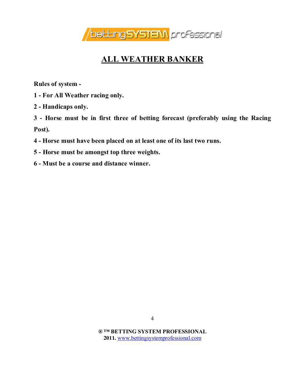 horse racing betting systems pdf files