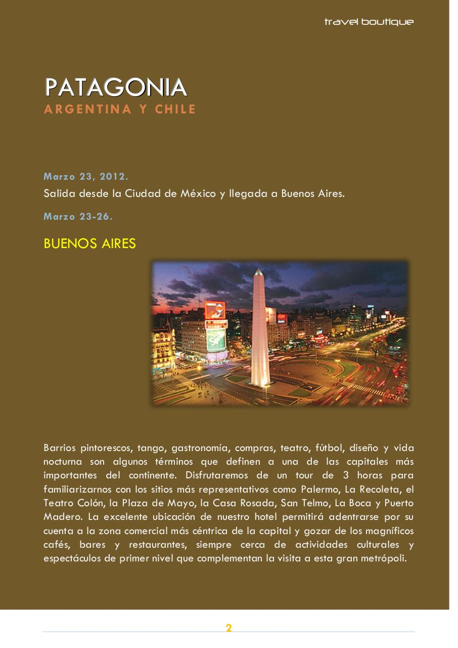 FOLLETO TRAVELBOUTIQUE PATAGONIA ARGENTINA CHILE.pdf - page 2/6