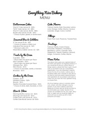 everything nice bakery menu