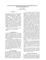 genetic algorithms paper