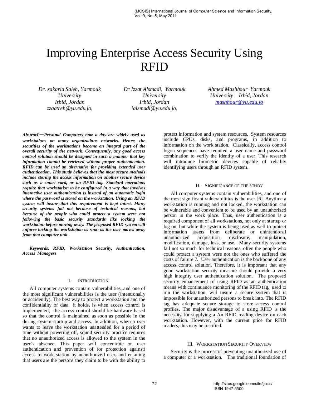 57143695-Improving-Enterprise-Access-Security-Using-RFID.pdf - page 1/6