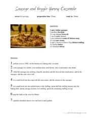 sausage and veggie yummy casserole