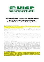 regolamento romagnolo fc 2012 daggiornato con uisp
