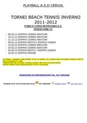calendario tornei e regolamento playball 2011 12