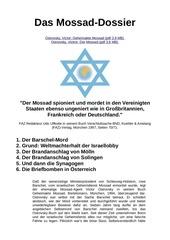 das mossad dossier